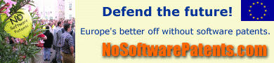 No software patents!